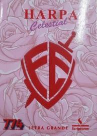 Harpa PQ. Brochura com 774 hino letra grande escudo fé rosa