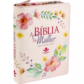 Biblia Da Mulher Media Impressa Ziper Rc