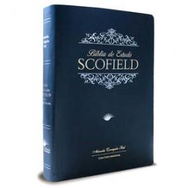 Bíblia de Estudo Scofield - Azul luxo