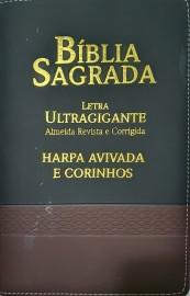 Biblia lt ultragigante RC bicolor com harpa