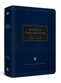 Bíblia Thompson AEC Letra Grande – capa luxo azul e preta
