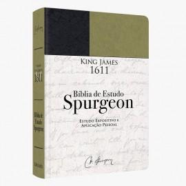 Bíblia De Estudo Spurgeon BKJ 1611 L. Grande Verde e  Preto