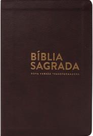Biblia Nvt Luxo Marrom Letra Normal