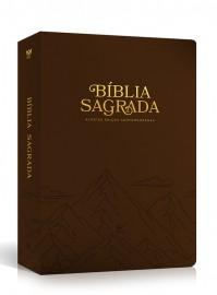 Bíblia AEC letra grande – marrom luxo