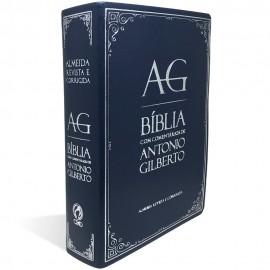 Bíblia com Comentários de Antonio Gilberto Azul