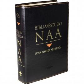 Biblia De Estudo Nova Almeida Atualizada Naa  Preta