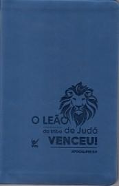 Biblia Aec Almeida Contemporanea  Azul Leao Slim
