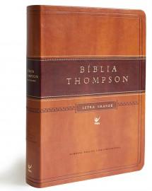 Biblia Thompson Letra Grande Marrom Claro E Escuro