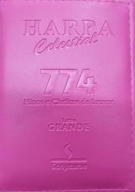 Harpa pq. luxo almofadada c. 774 hino letra grande rosa