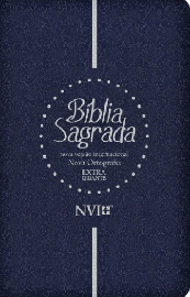 Bíblia Sagrada NVI Extra Gigante - Capa Semi Luxo Azul