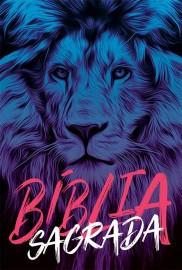 Bíblia Naa Leão Azul capa dura