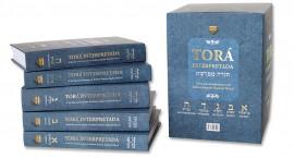 Torá Interpretada capa dura (5 volumes)