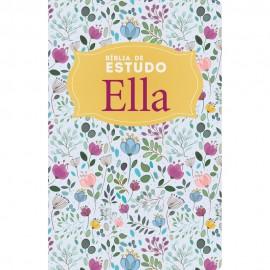 Biblia De Estudo Ella Semi Luxo Conciso Floral Nvi