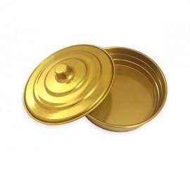 Bandeja De Santa Ceia Em Alumínio dourada Pão