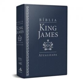 Biblia King James De Estudo luxo Azul Kja