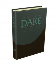 Biblia de estudo Dake verde claro e preto Luxo