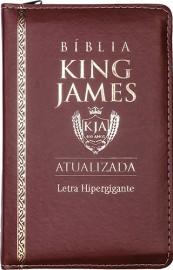 BIBLIA KING JAMES ATUALI. PU ZIPER - MARROM