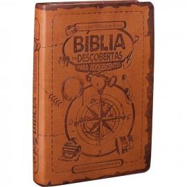 Biblia Das Descobertas Adolescente Marrom  Ntlh