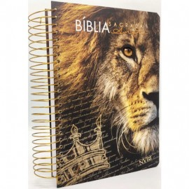Biblia Anote Nvi Leão Preta Espiral