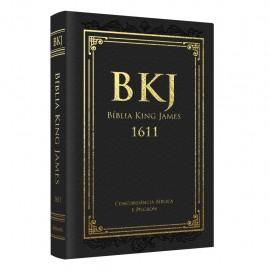 biblia king james fiel luxo preta com concordancia