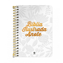 Bíblia Ilustrada Anote NVT espiral - Tela Branca