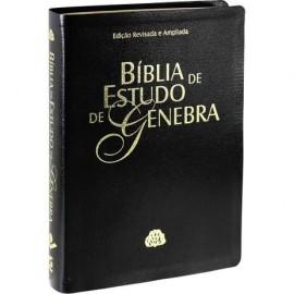 Biblia De Estudo Genebra Preto luxo