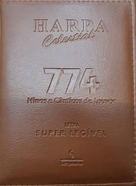 Harpa media almofadada c. 774 hino letra gigante marrom