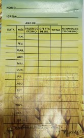 Envelope Dizimo Anual 100 unidades trigo