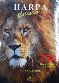 Harpa PQ. Brochura com 774 hino letra grande leão marrom