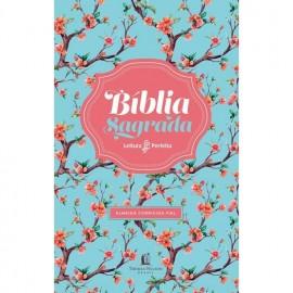 Biblia Leitura Perfeita Acf Capa Floral luxo