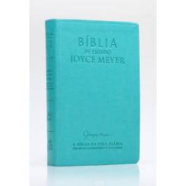 Biblia De Estudo  Joyce Meyer Azul Tifany