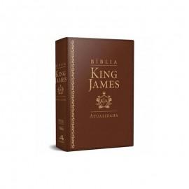 King James De Estudo  luxo ra Marrom