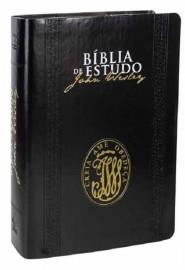 Bíblia de Estudo John Wesley Capa Luxo Preto