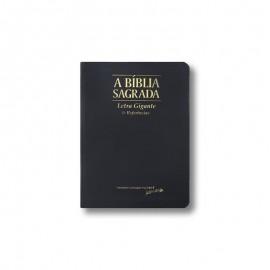 BIBLIA LETRA GIGANTE ACF REFERENCIAS - LUXO PRETA