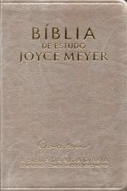 Biblia De Estudo Joyce Meyer Media Dourada Luxo