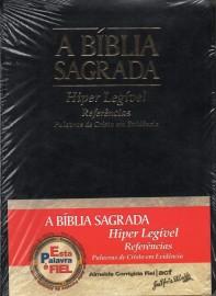 Biblia Hiper Legivel Acf Preta  Luxo