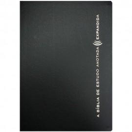 Biblia de estudo anotada expandida luxo Preta