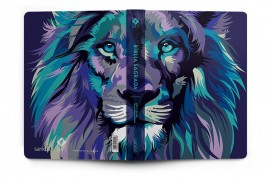 Bíblia Nvt 960 Lion Color Cool capa dura L. branco
